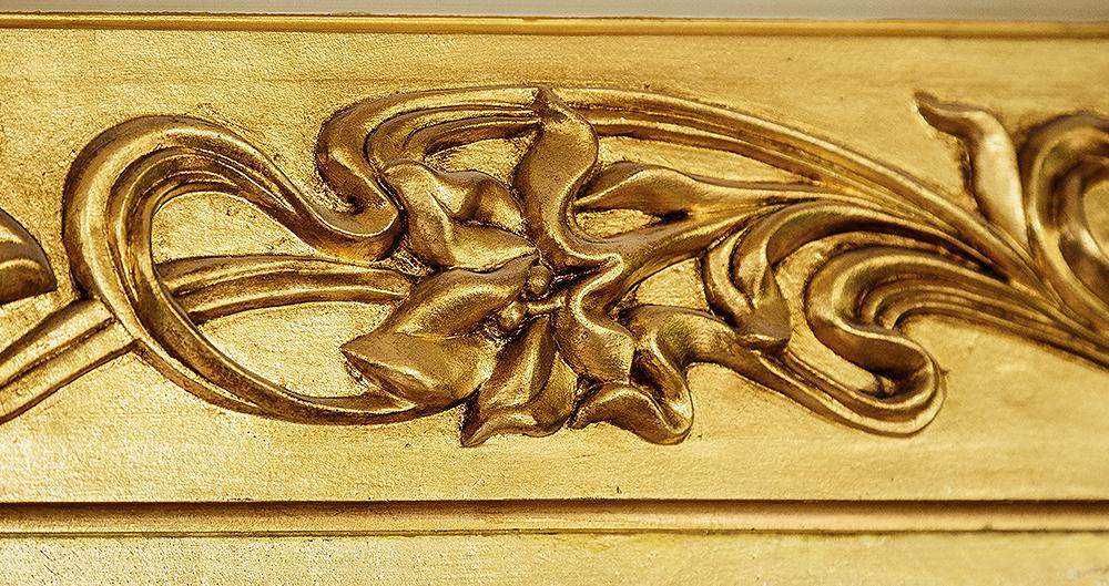 <b>Декоративный карниз </b><span>В оформлении использована золотая поталь</span>